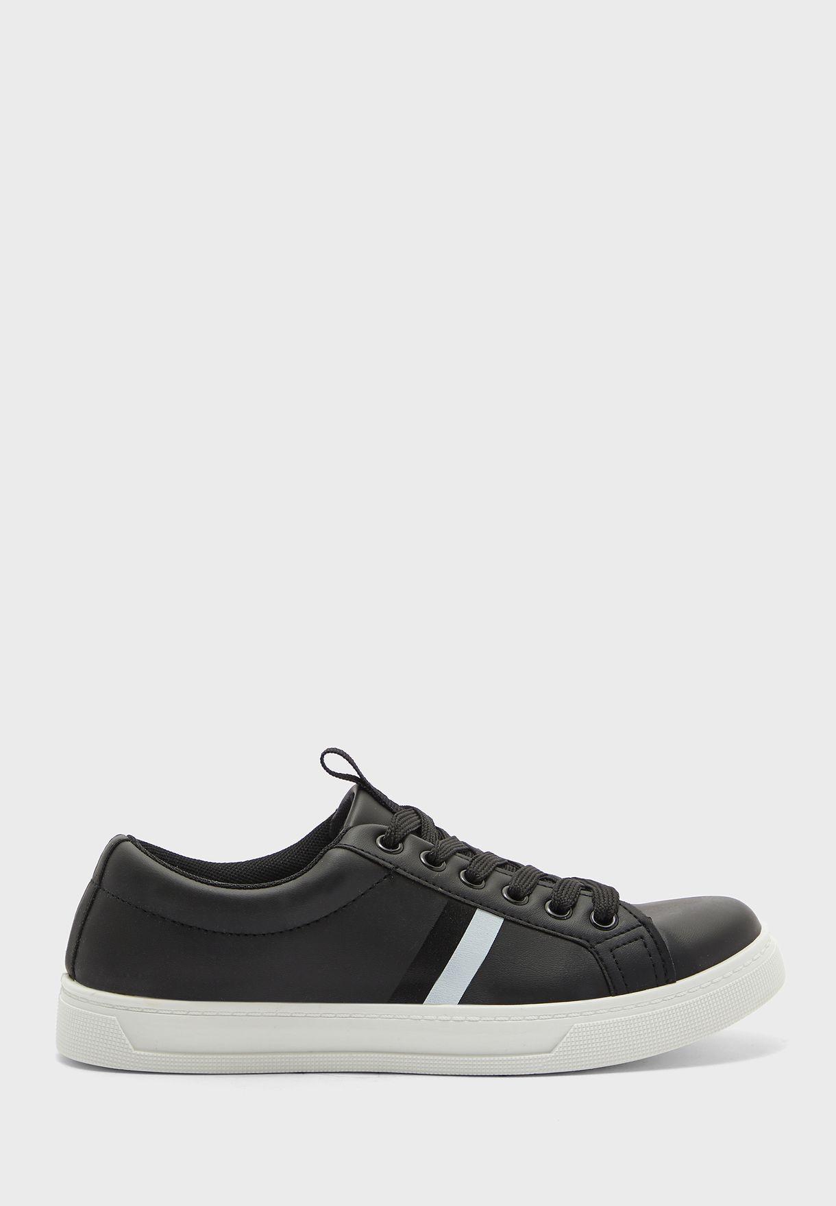 Stripe Detail Low Top Sneakers