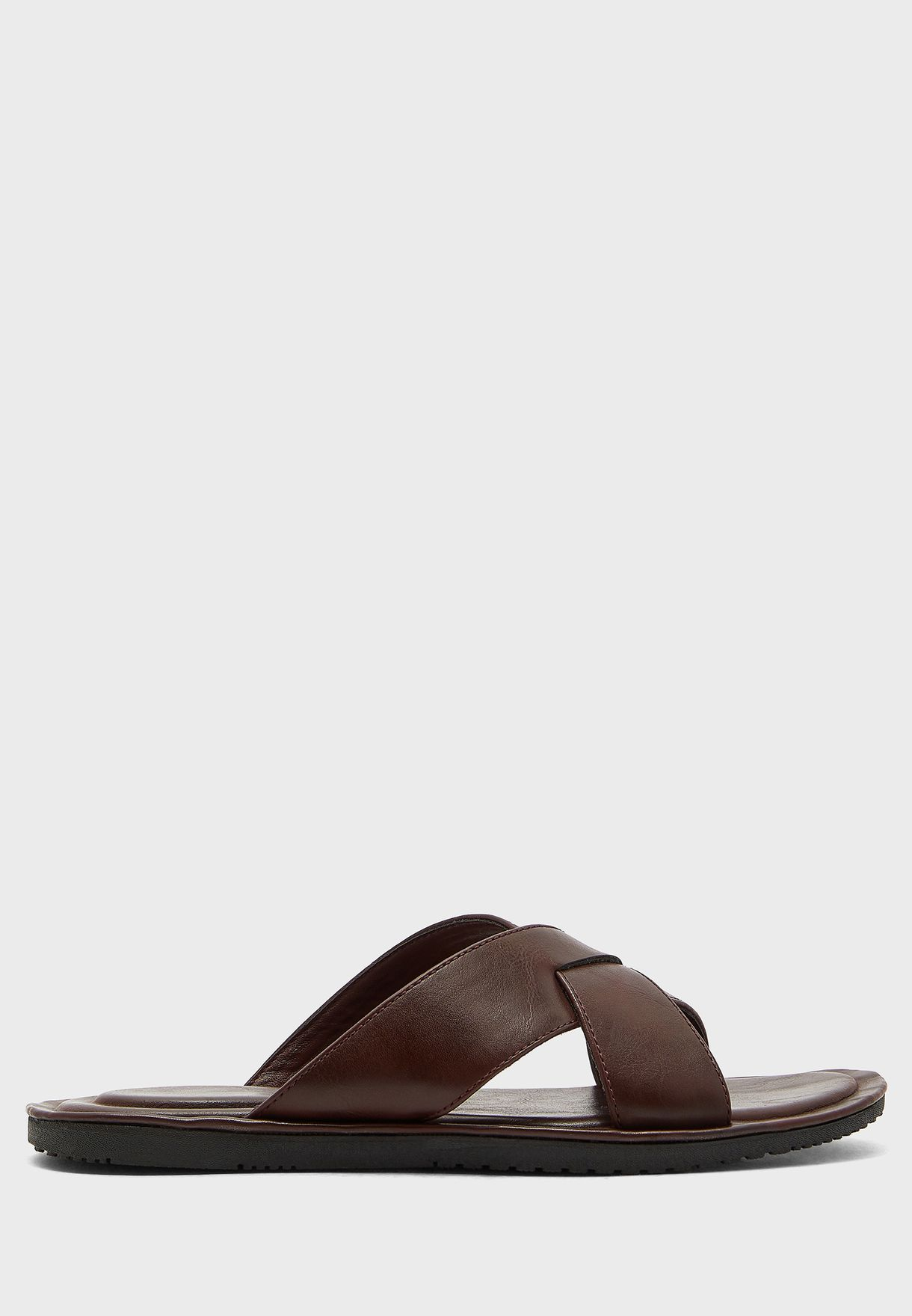 Causal Cross Strap Sandals