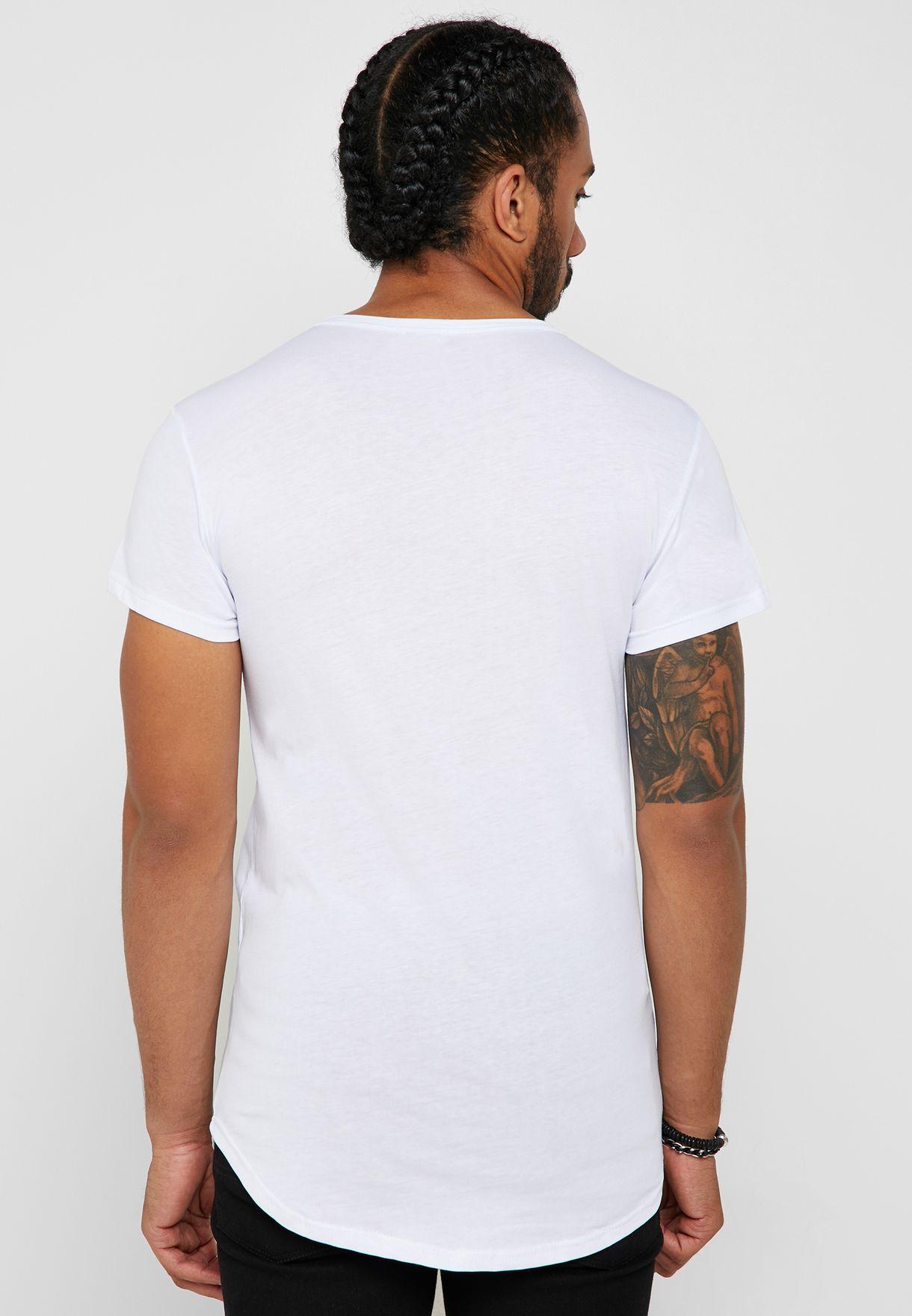 Wing Skull Print Crew Neck T-Shirt