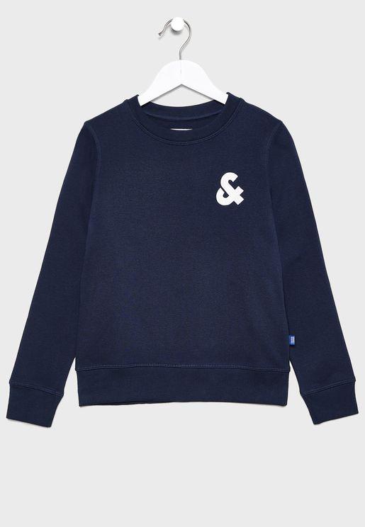 Teen Chest Logo Crew Neck Sweatshirt