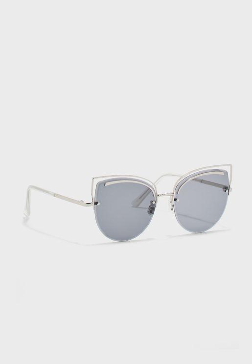 نظارة شمسية باطار معدني بنمط عين القطة