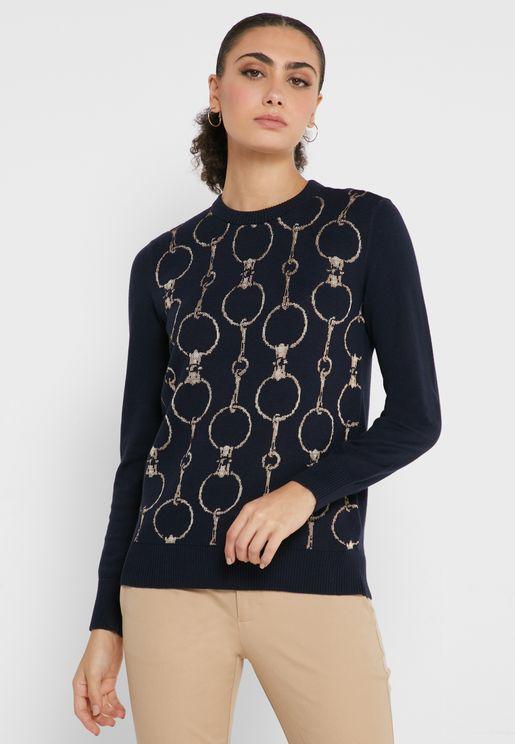 Domenic Printed Sweater