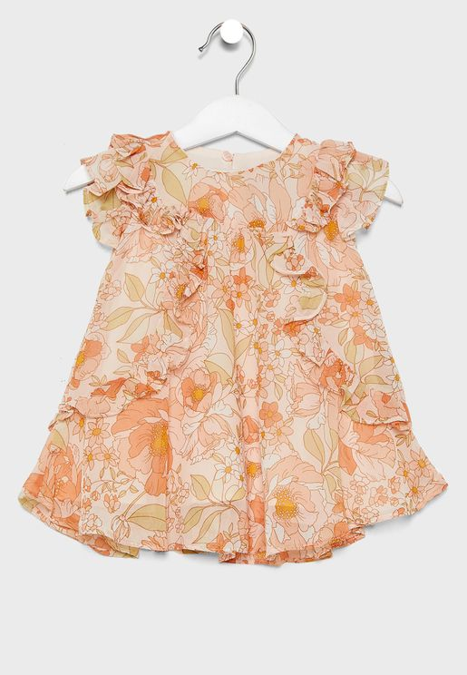 Infant Ruffle Details Dress