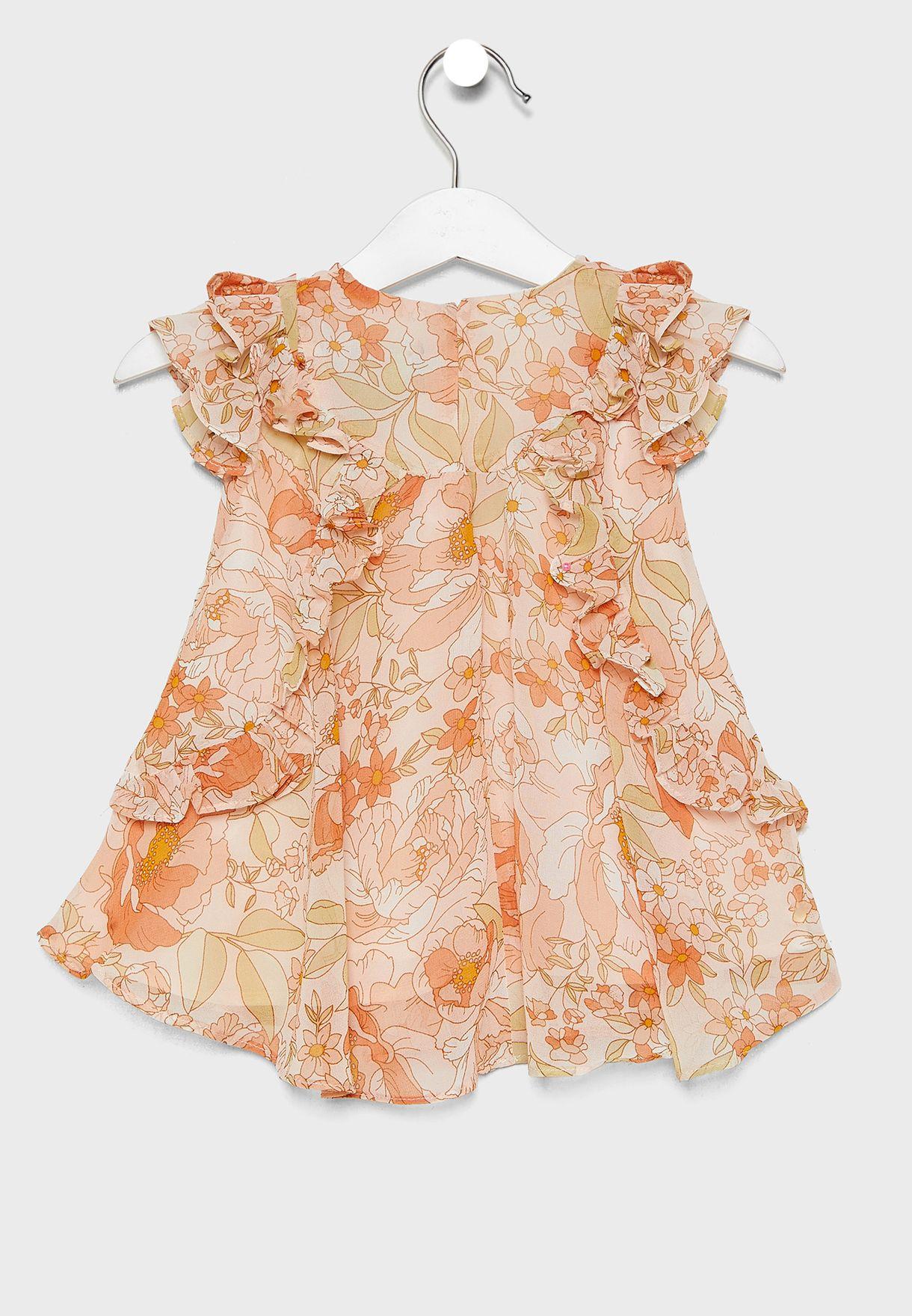 Infant Ruffle Details Dress