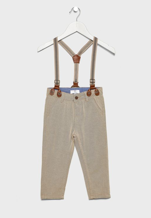 Kids Casual Trouser With Suspender