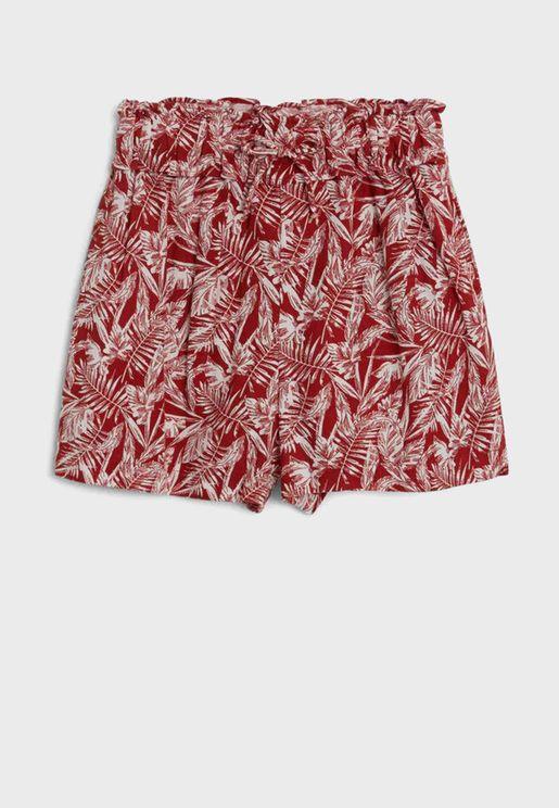 Kids Palm Leaf Shorts
