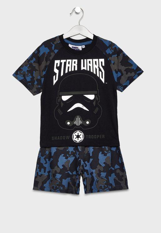 Kids Star Wars Camo Pyjama Set