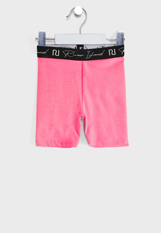 Kids Logo Waistband Cycling Shorts