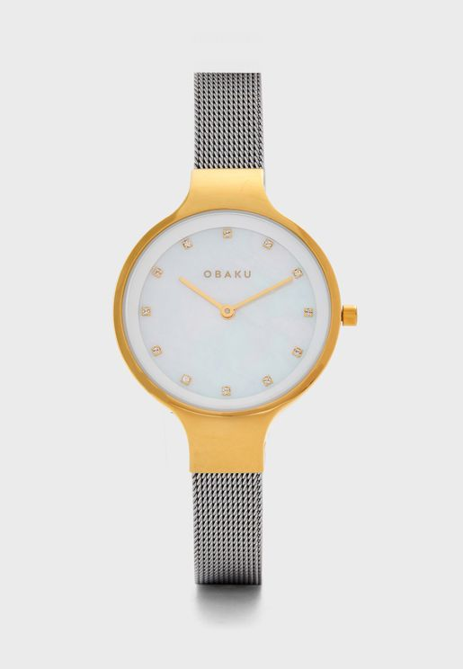 Sky Mesh Strap Analog Watch