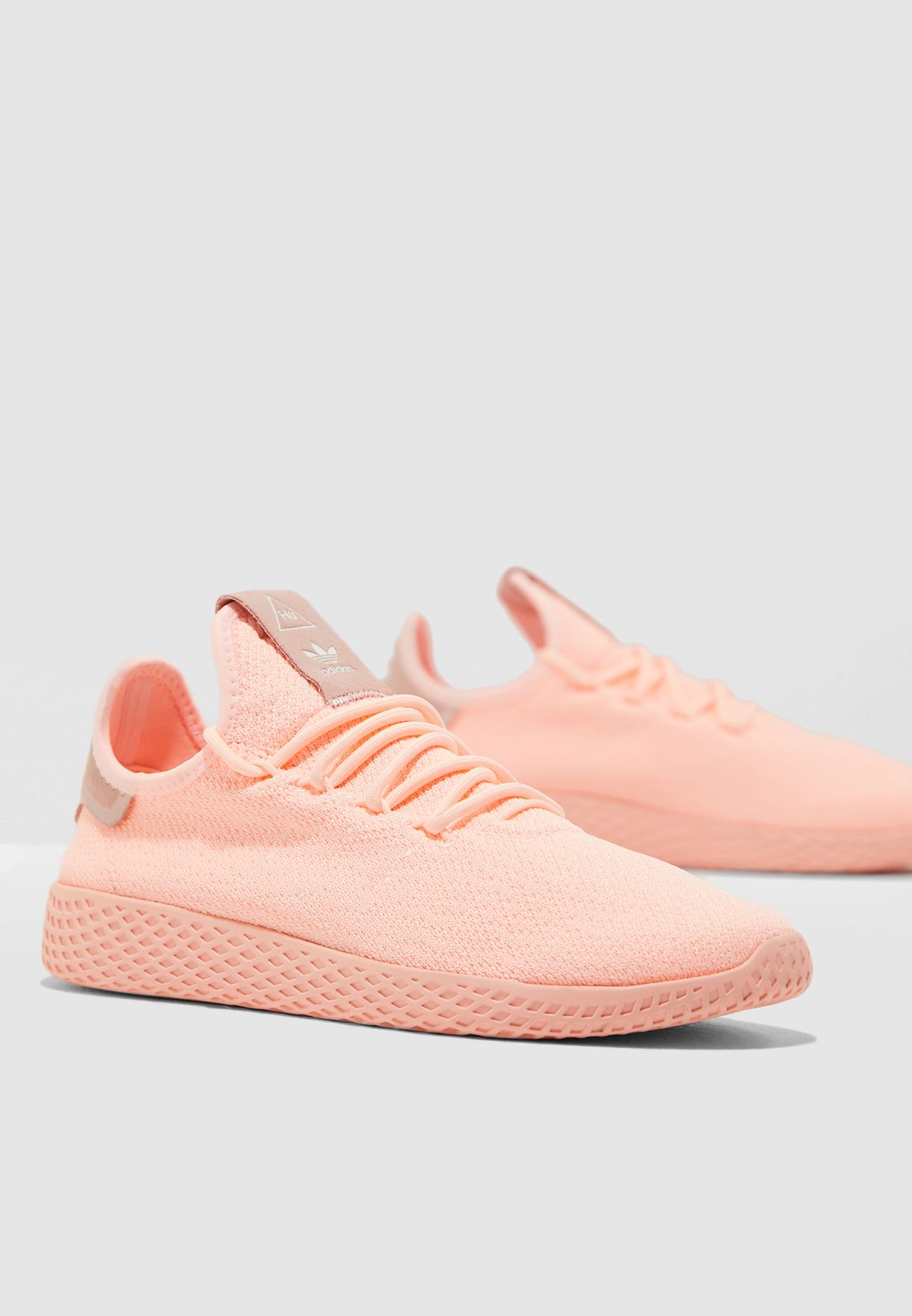 90f297f195c7c Shop adidas Originals pink Pharrell Williams Tennis HU D96551 for ...