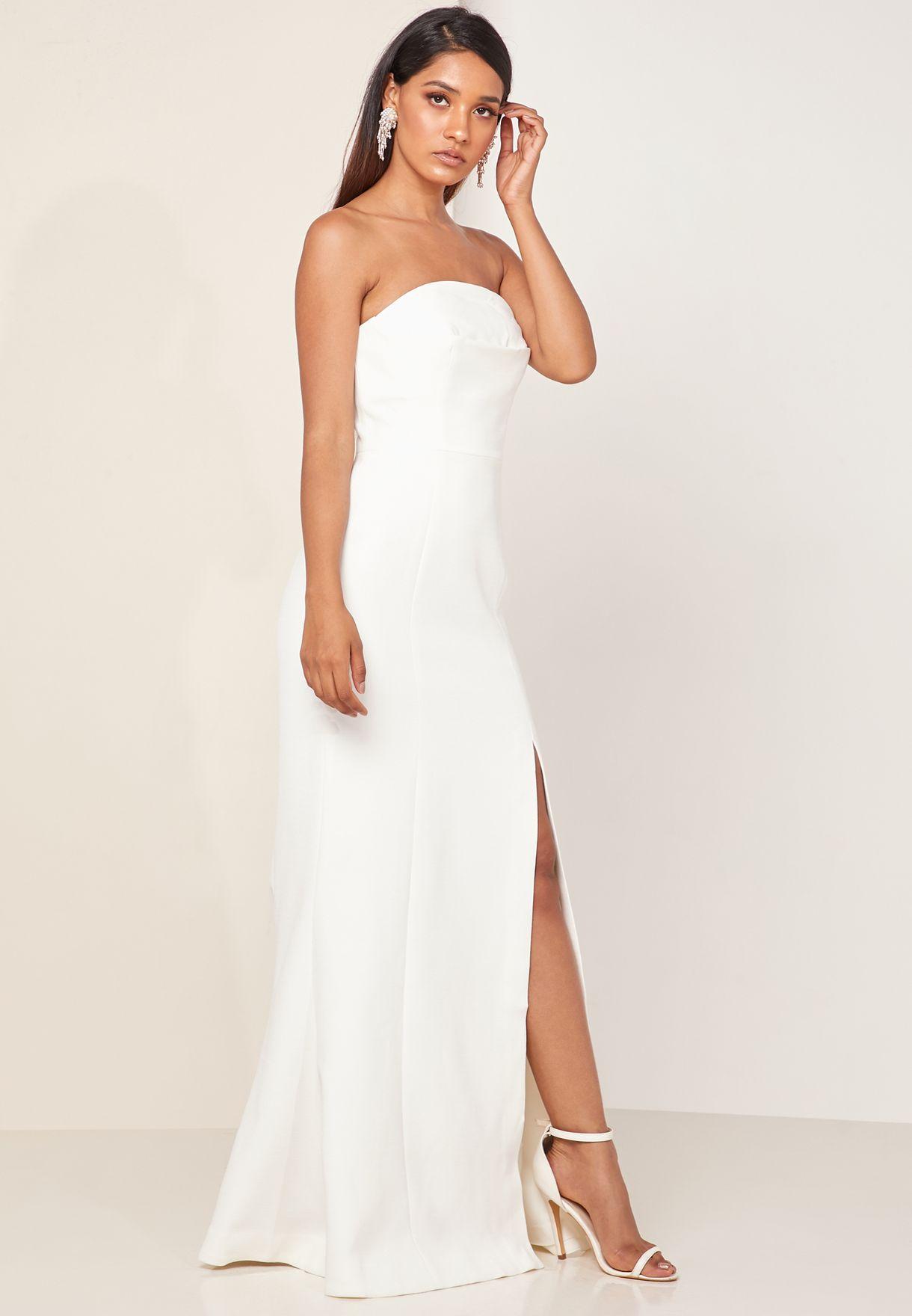 Next Step Strapless Maxi Dress