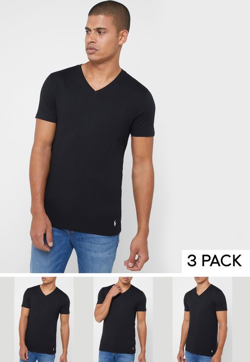 3 Pack V Neck T-Shirt