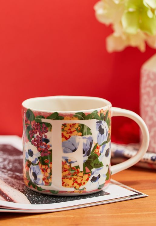 F Initial Dawn Mug