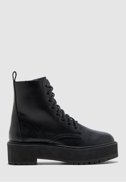 Oslo Chunky Lace Up Boot