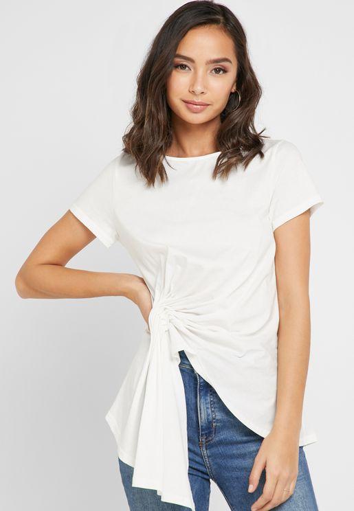 cbd8b636090d1 Asymmetric Short Sleeve T-Shirt