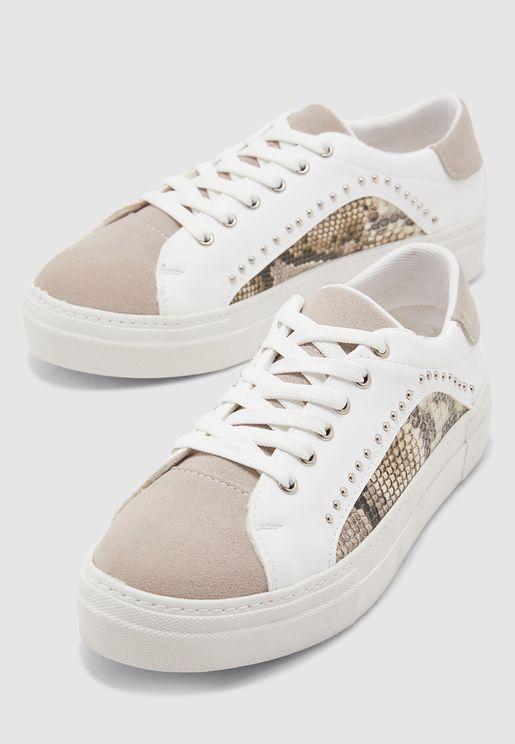 Casual Low Top Sneaker - Beige
