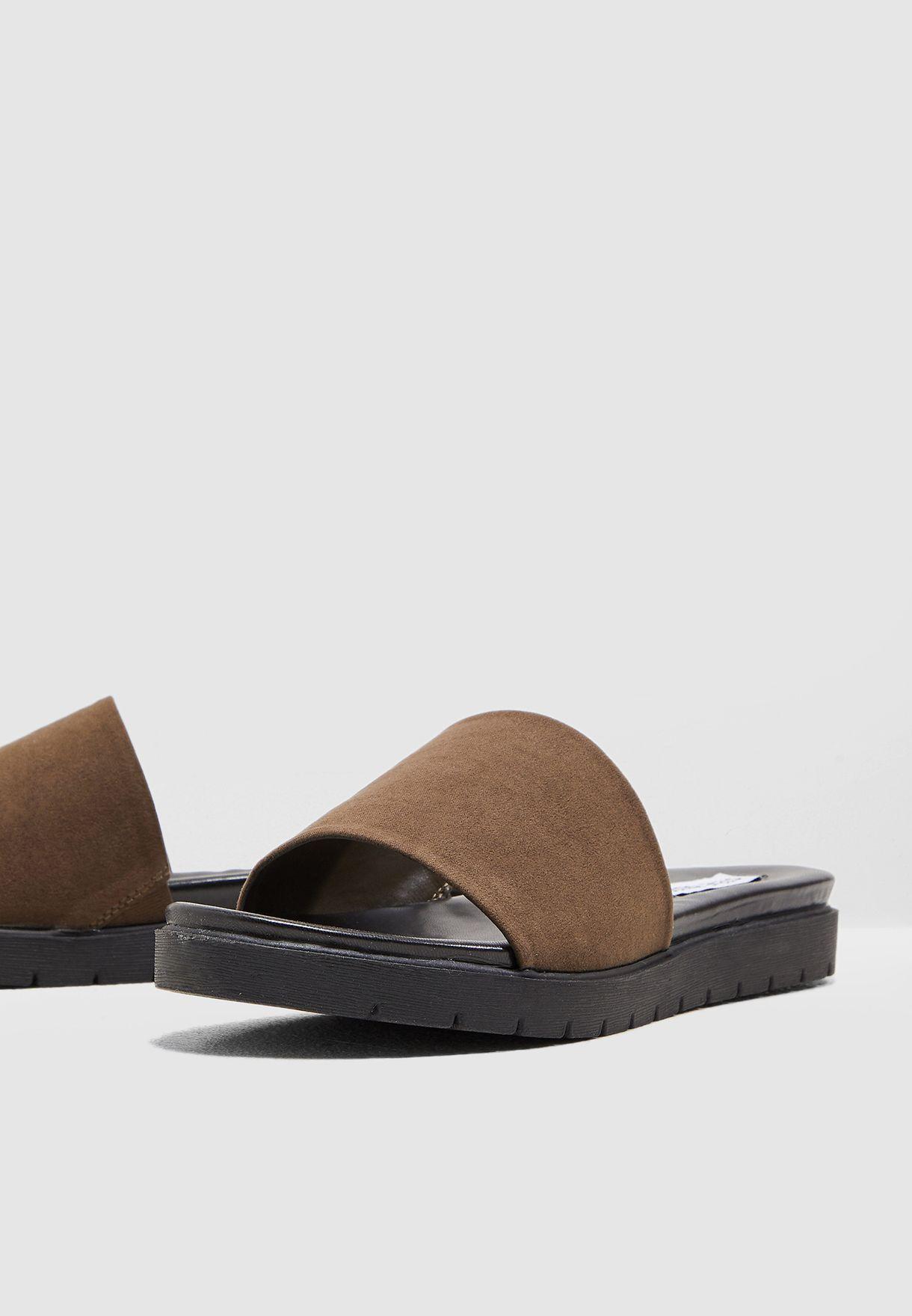 Stefanie Glitter Sandal - Smoke