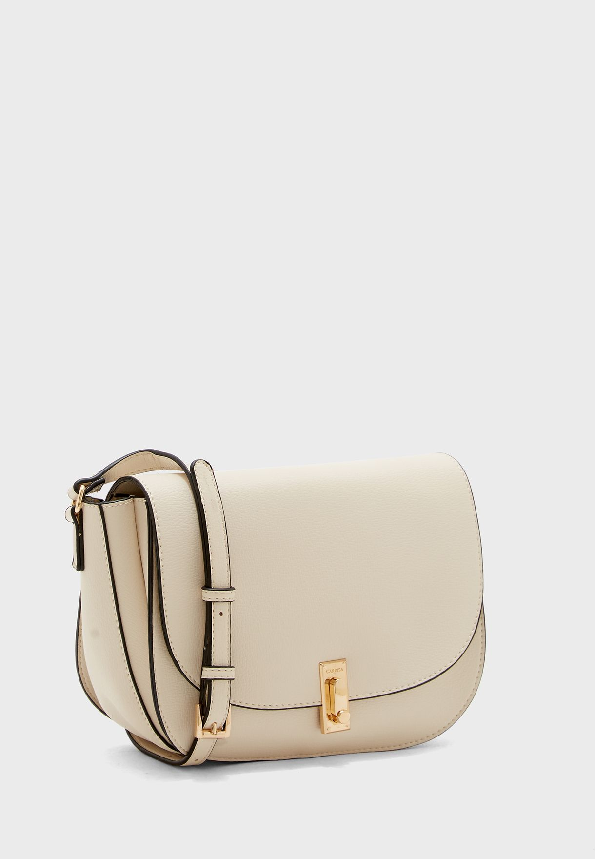 Flap Detail Belted Crossbody