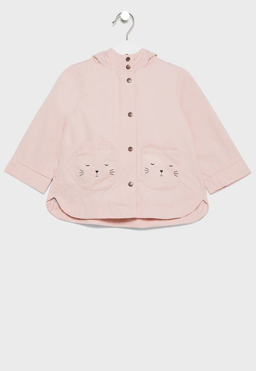 Infant Pocket Detail Trench Coat