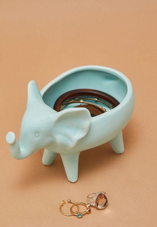 حامل مجوهرات بشكل فيل