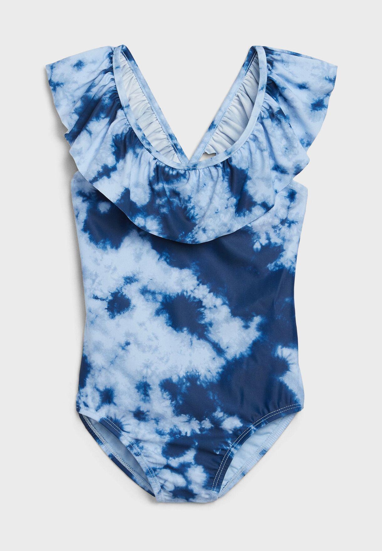 Kids Ruffle Detail Swimsuit