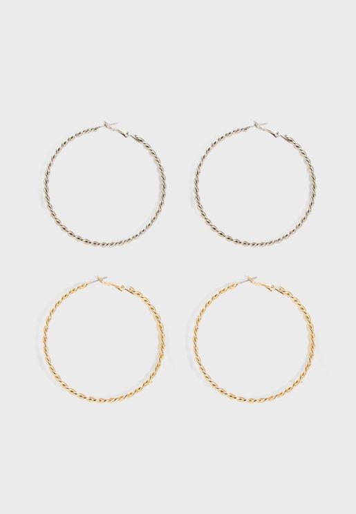 مجموعة اقراط دائرية
