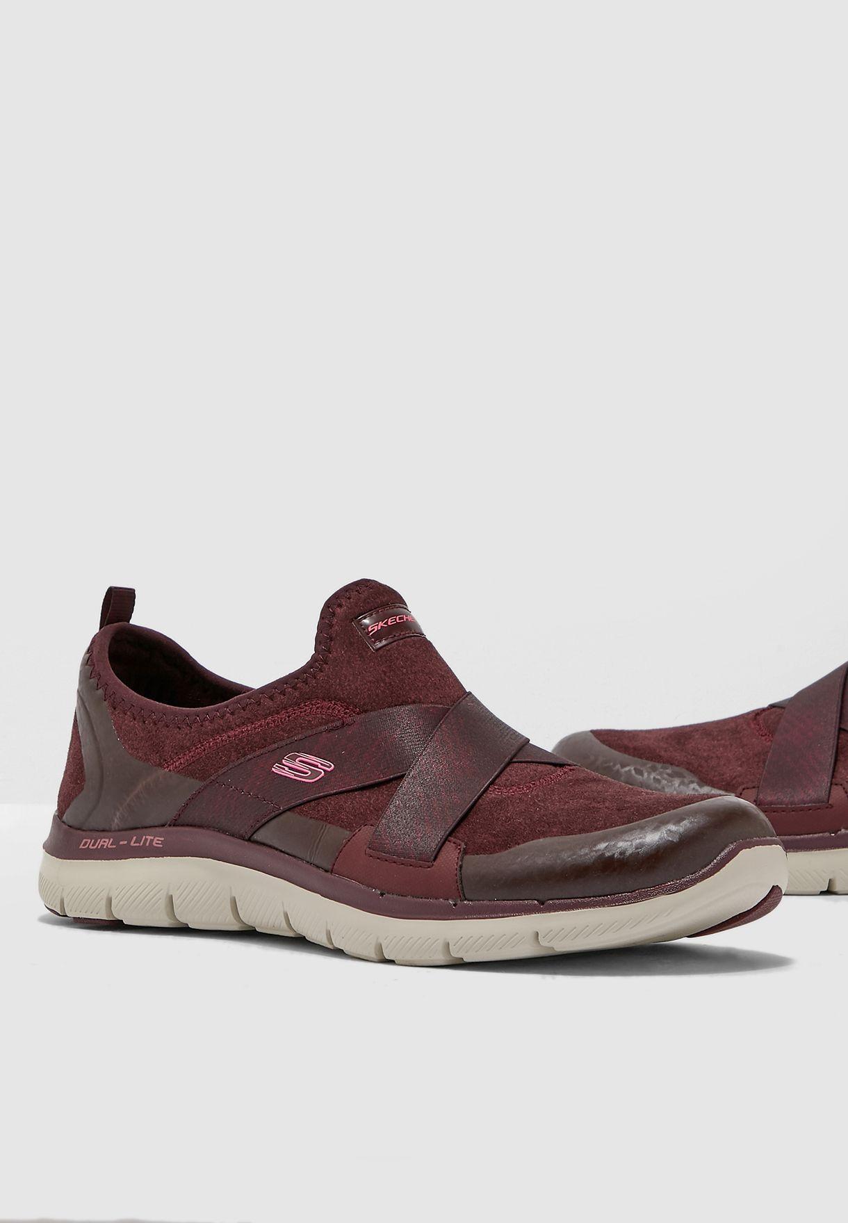 online aquí nuevos productos para muy agradable Shop Skechers red Flex Appeal 2.0 Bright Eyed 12619-BURG for Women ...