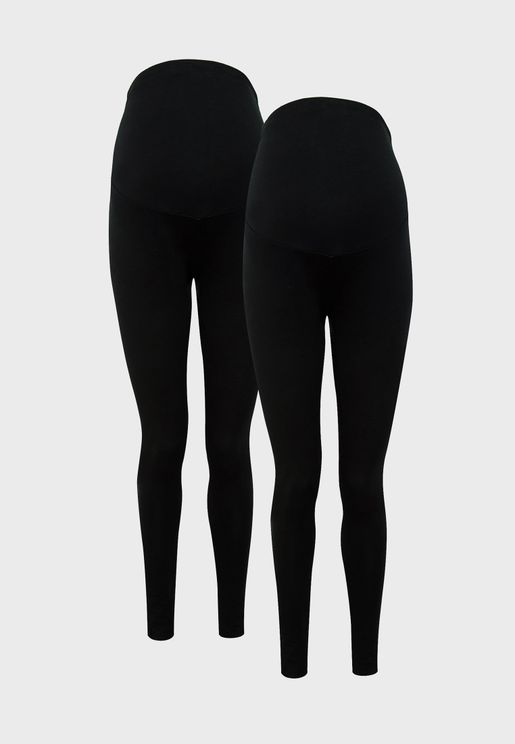 2 Pack Ankle Grazer Leggings