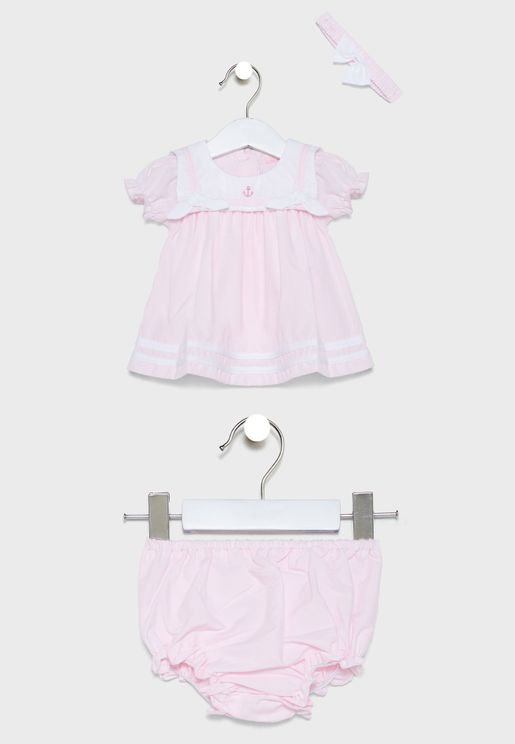 Infant Sailor Dress + Knickers Set