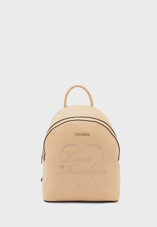 Top Handle Zip Through Backpack