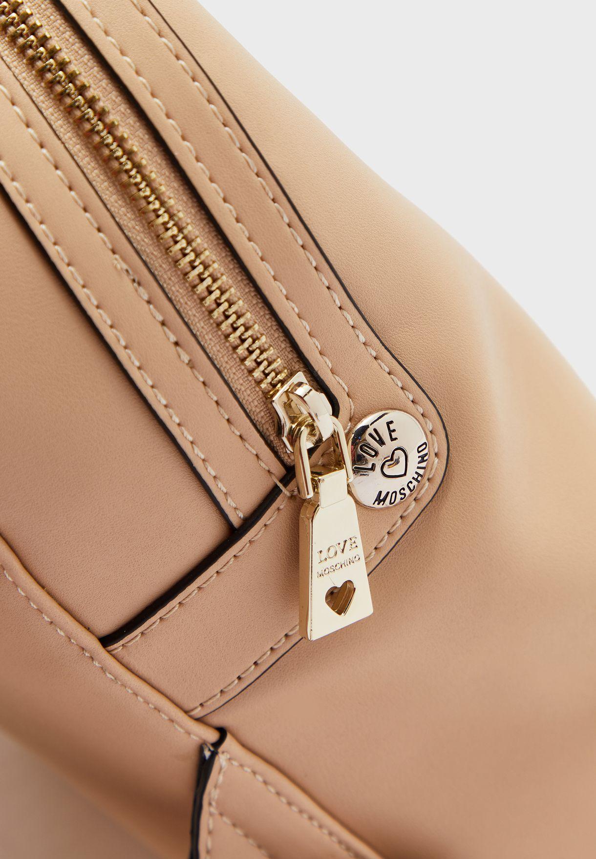 Top Handle Zip Through Backpack