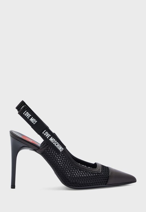 Wide Fit Sling Back Pump