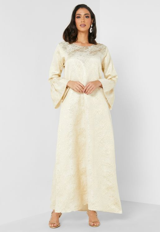 Zara Flute Sleeve Dress