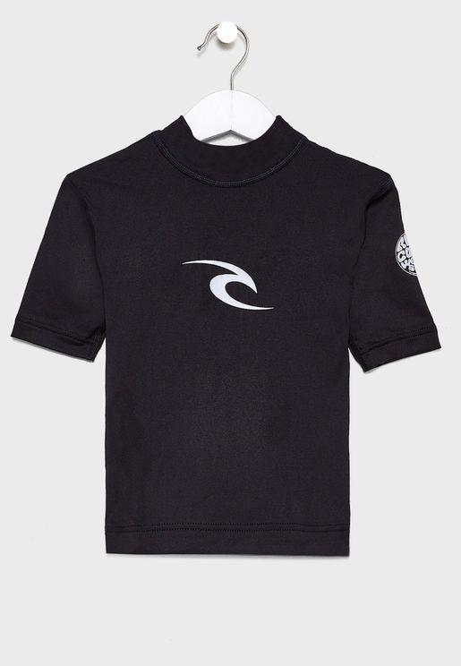 Kids Grom Corpo Rashgaurd T-Shirt