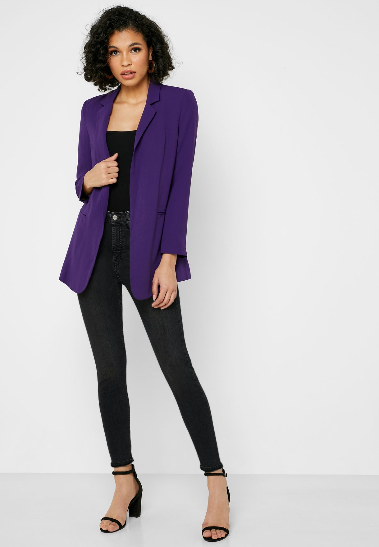 Roll Sleeve Blazer
