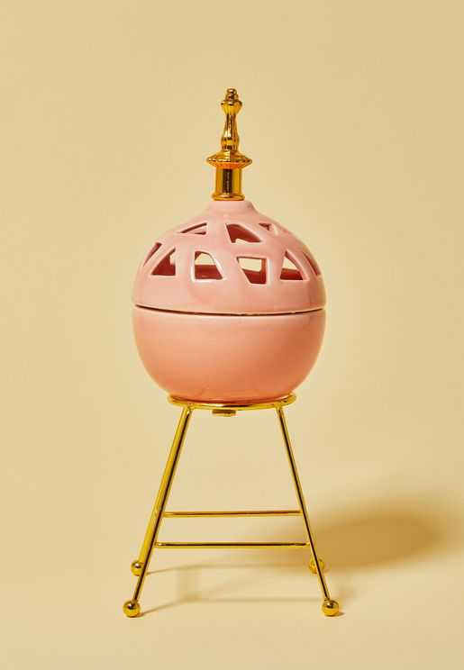 Pink Ceramic Incense Holder