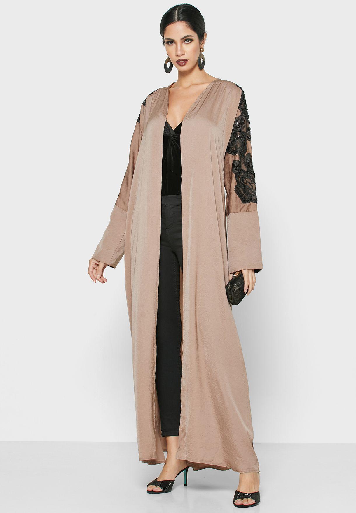 Lace Detail Abaya