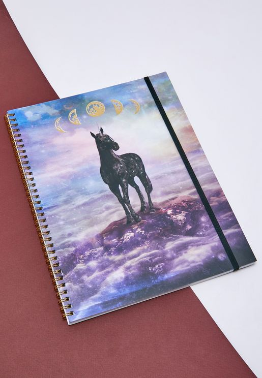 A4 Mystical Unicorn Notebook
