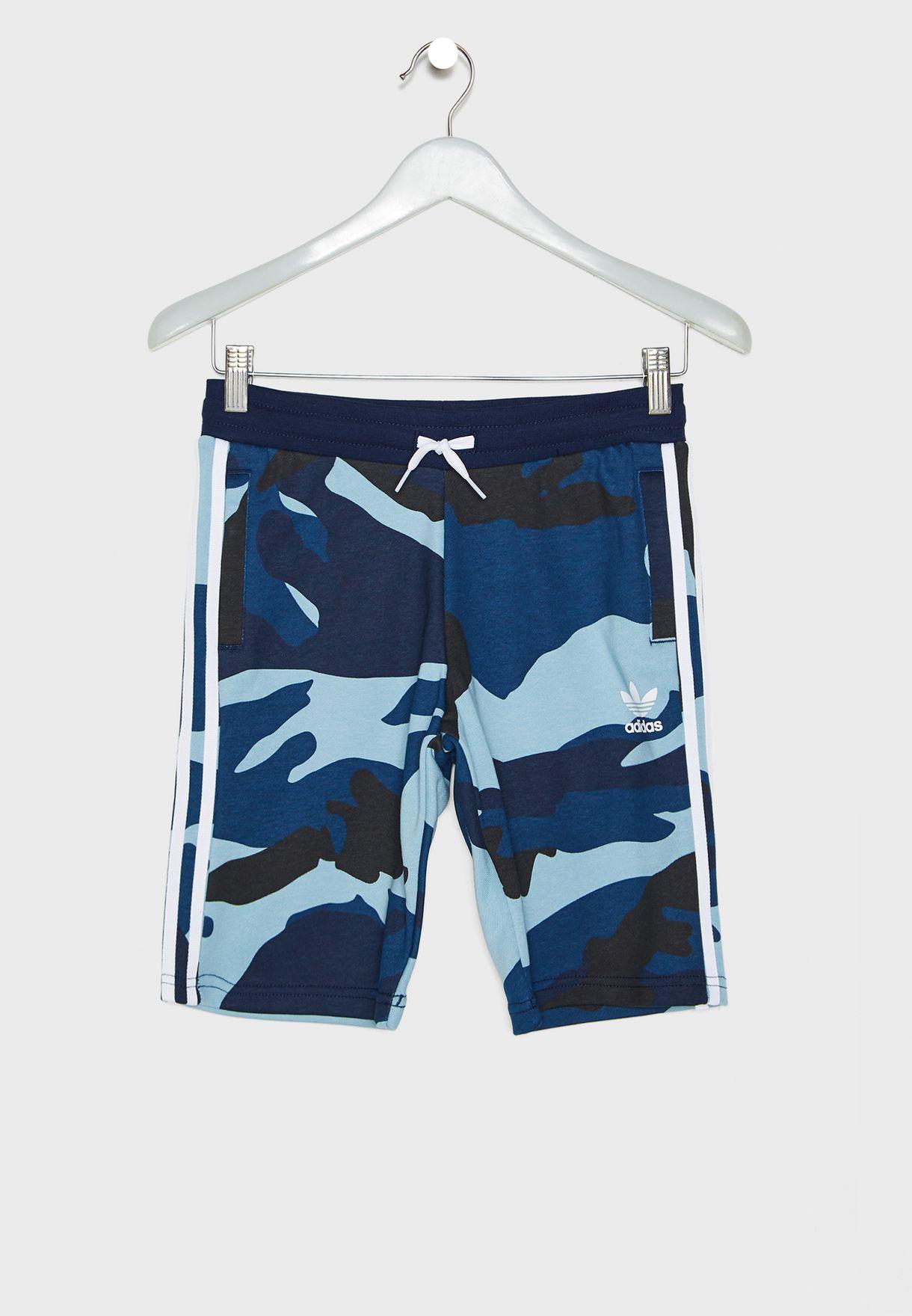 81597ba825af8 Shop adidas Originals prints Youth Camo Shorts DW3836 for Kids in ...