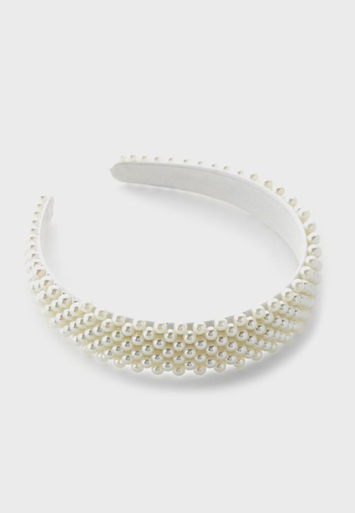 Pearl Wide Headband