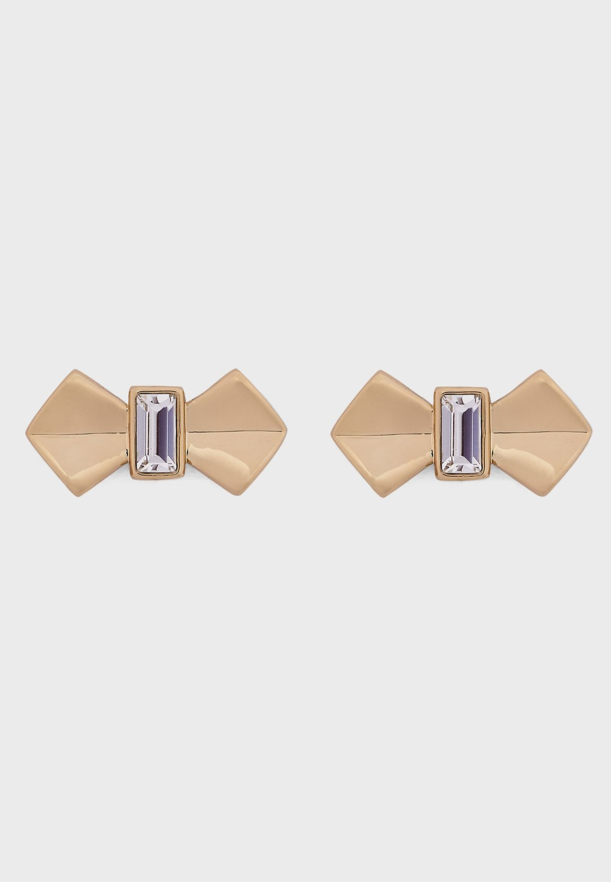 Susiee Solitaire Bow Stud Earrings