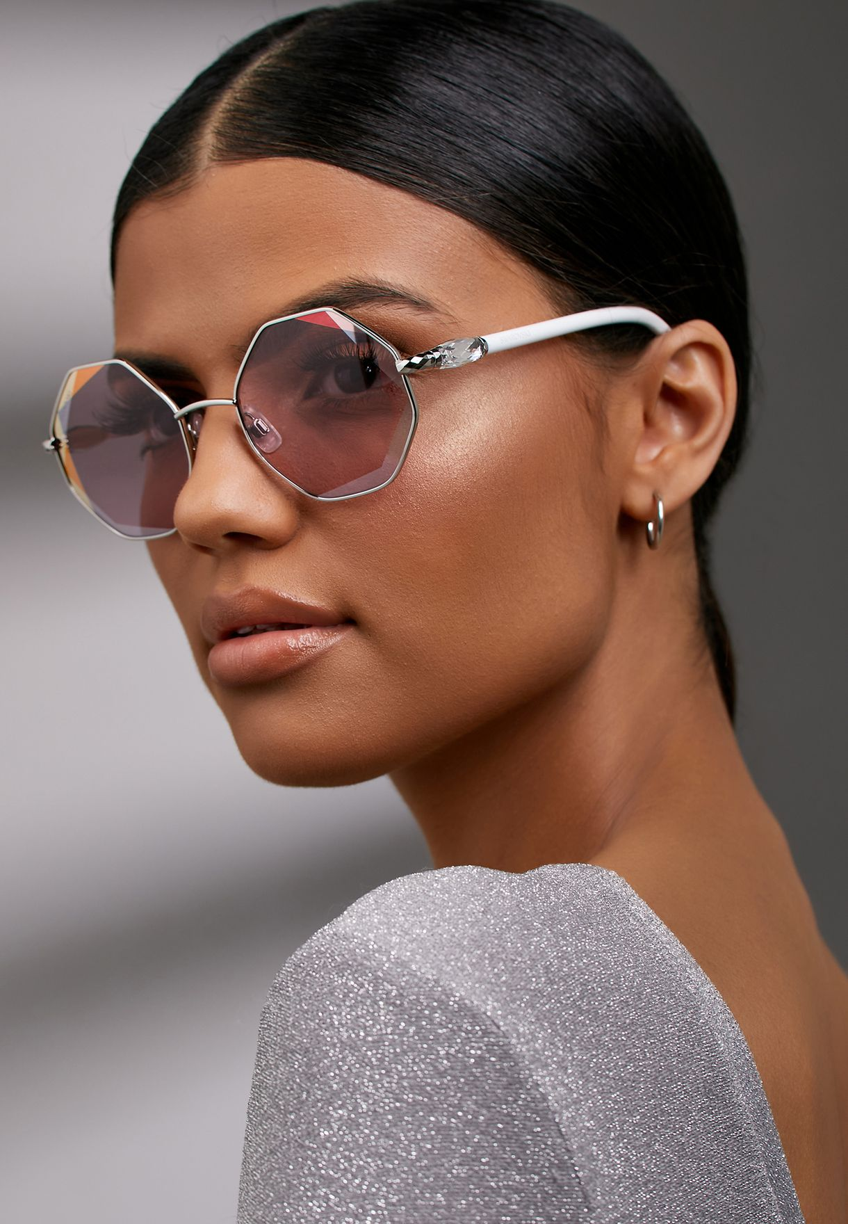 Gradient Hexagon Sunglasses