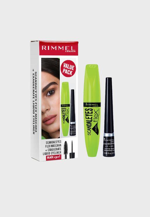 Scandaleyes Flex Mascara + Exaggerate Liquid Eyeliner