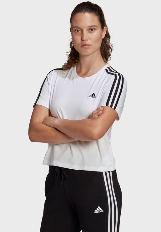 3 Stripe Cropped Top