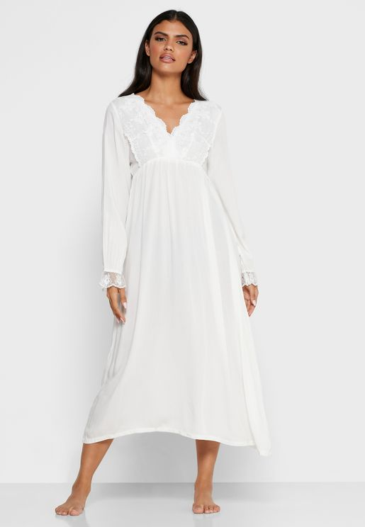 Lace Trim Nightdress