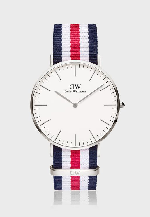 Classic Canterbury Silver White 40mm Watch
