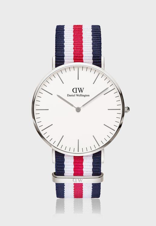 ساعة كانتربري اس وايت الكلاسيكية 40 مم