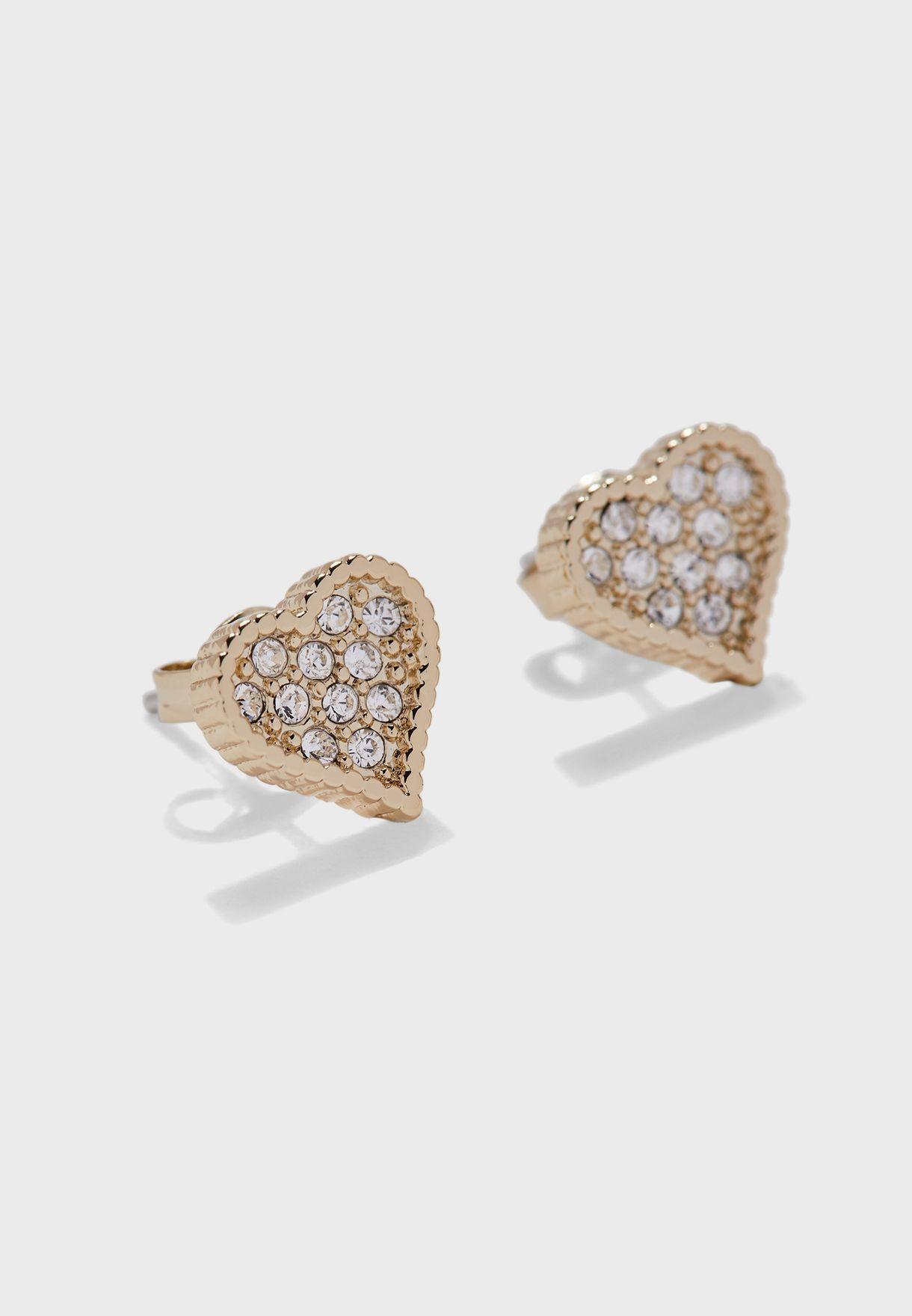 Hanila Hidden Heart Stud Earrings