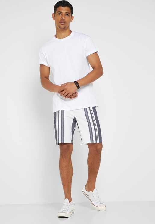Tapered Stefan Stripe Shorts
