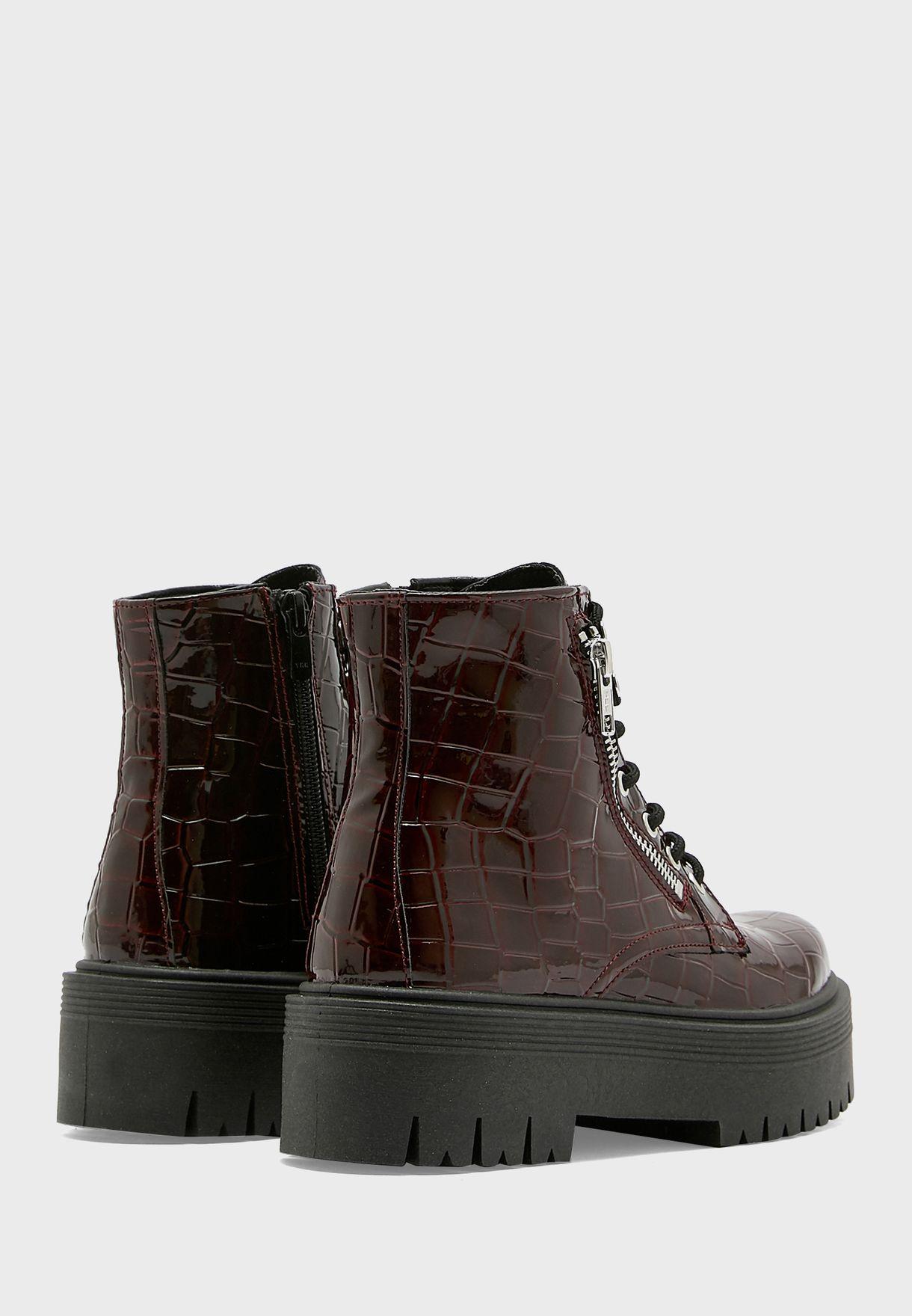 Brooke Chunky Zip Boot